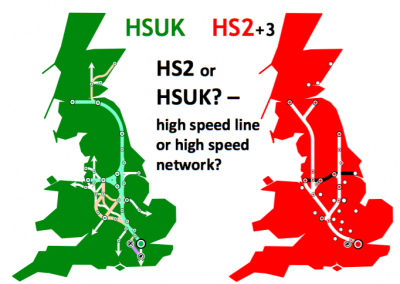 Comparison of Route Concepts. HS2 vs. HSUK