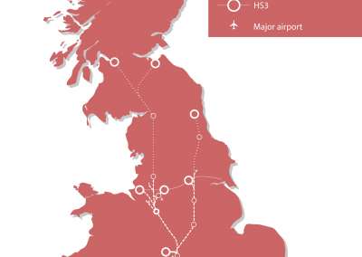 HS2+3 Route Map
