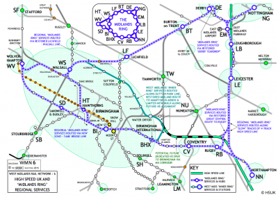 HSUK Midlands Ring Detailed Route Map